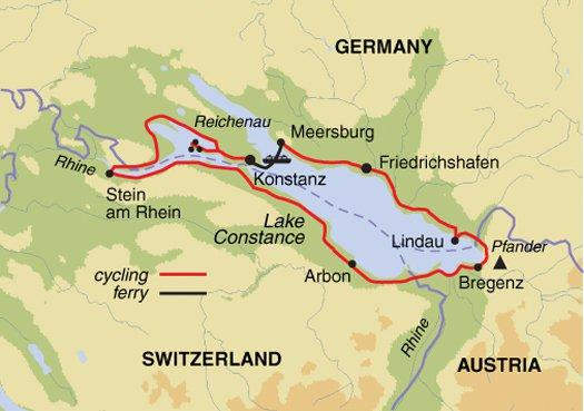 Cycling Independent Headwater - Lake Constance Self-Guided Cycling package