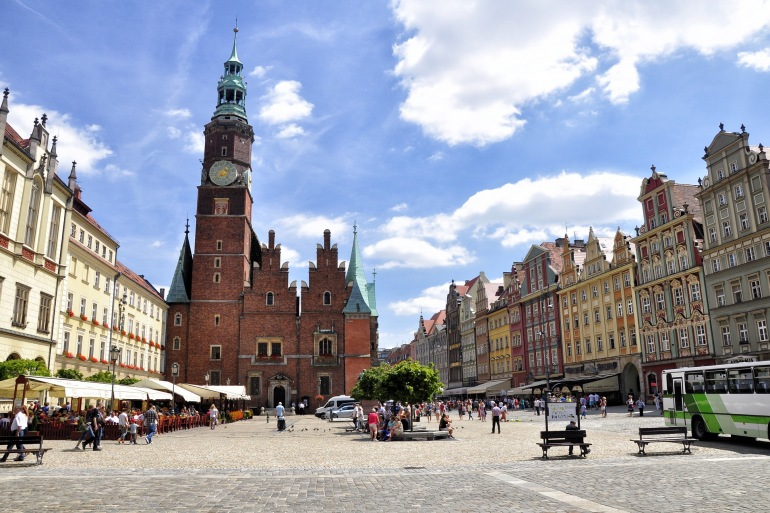 Historical Wroclaw City Hall, Poland