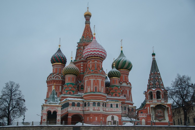 Saint Basil's Cathedral at Moscow, Europe