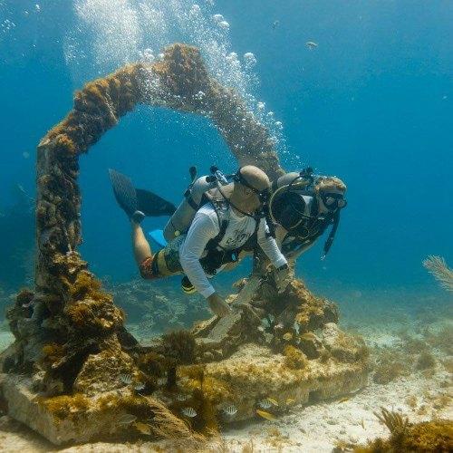 Underwater museum sculpture, Mexico