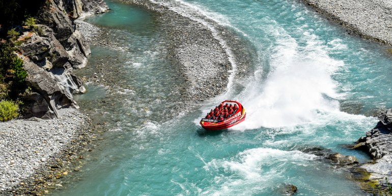 Jetboating in New Zealand