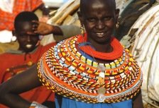 African woman in traditional dress on Kenya tour
