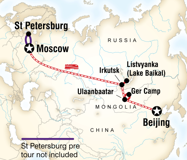 Beijing Irkutsk Trans-Mongolian Adventure Trip