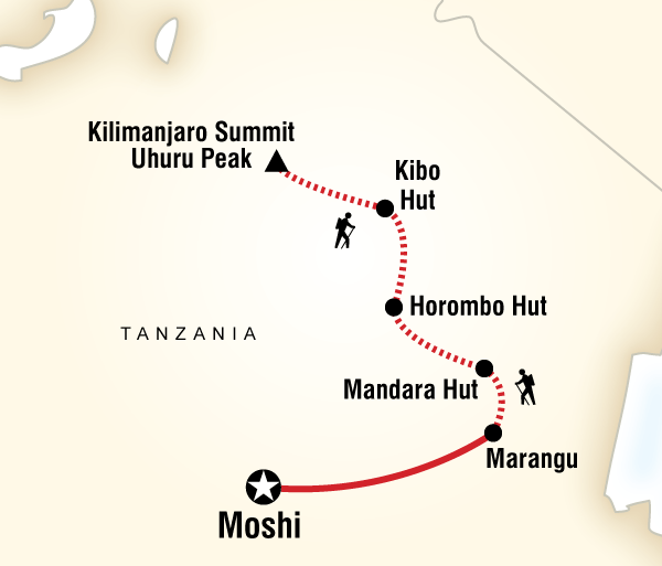 Adventure Hiking Mt Kilimanjaro Trek - Marangu Route package