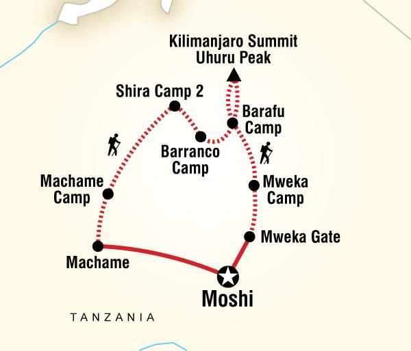Adventure Hiking Mt Kilimanjaro Trek - Machame Route (8 Days) package