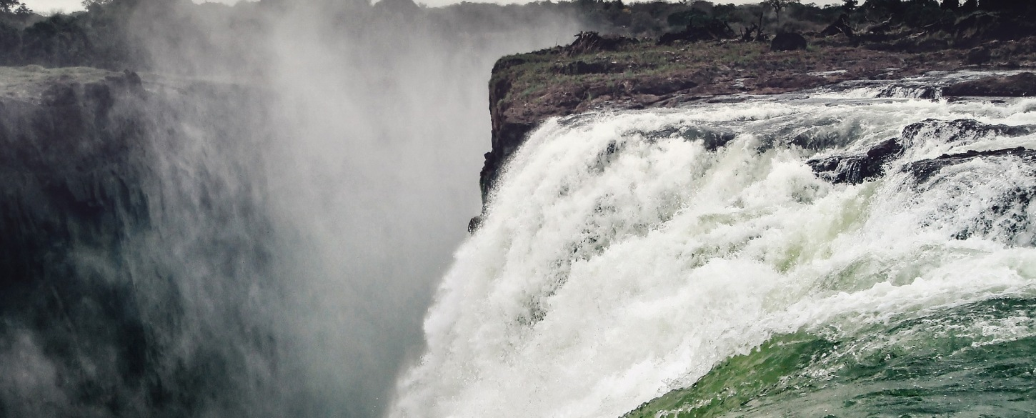 Stunning view of Victoria Falls on Adventure to Africa tour