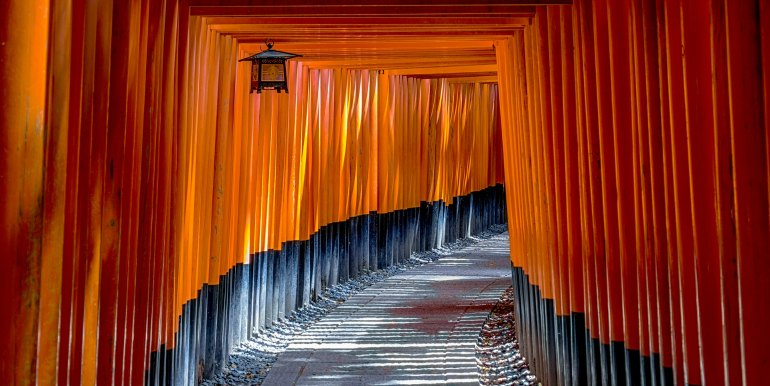 Pathway in Kyoto, Japan