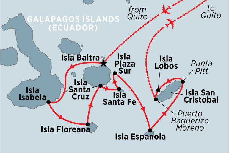 Isla Santa Fe Quito Classic Galapagos: Southern Islands (Grand Queen Beatriz) Trip