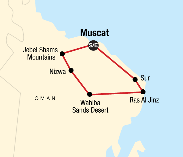 Grand Canyon Muscat Highlights of Oman Trip