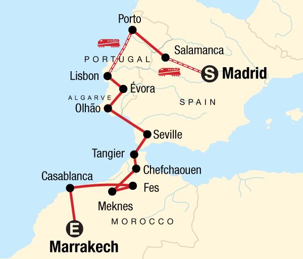 Lisbon Madrid Spain, Portugal, and Morocco Adventure Trip