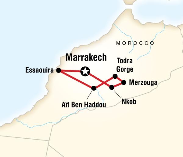Essaouira Marrakech Moroccan Desert Adventure Trip