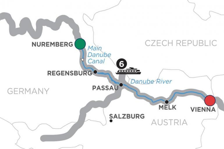 Nuremberg Passau Christmastime on the Danube – Cruise Only Eastbound Trip