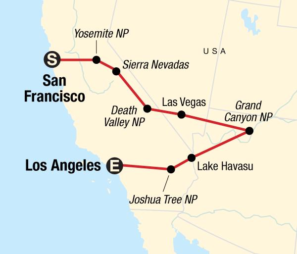 California Death Valley San Francisco to Los Angeles Express Trip