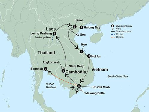 Luang Prabang Siem Reap Kingdoms of Southeast Asia Vietnam, Cambodia and Laos Trip