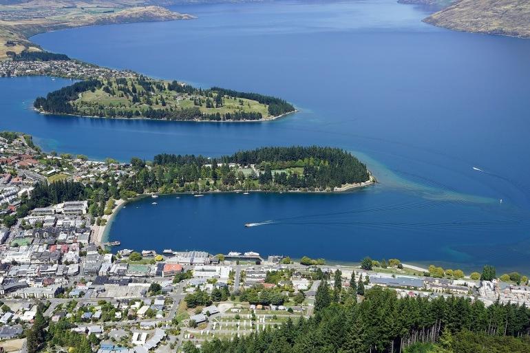 Lake Wakatipu view Queenstown, New Zealand