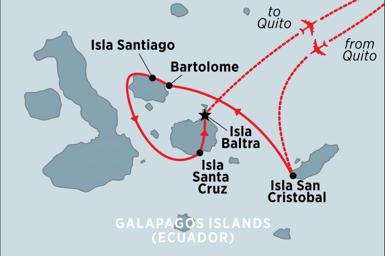 Isla Santiago Quito Galapagos Encounter: Central Islands  (Grand Queen Beatriz) Trip