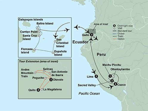 Lima Quito Machu Picchu & the Galapagos Islands  Trip