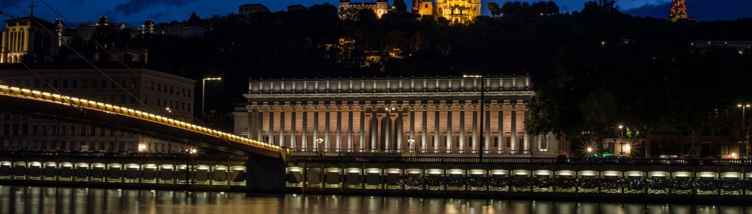 River cruise along the Saone in Lyon, France