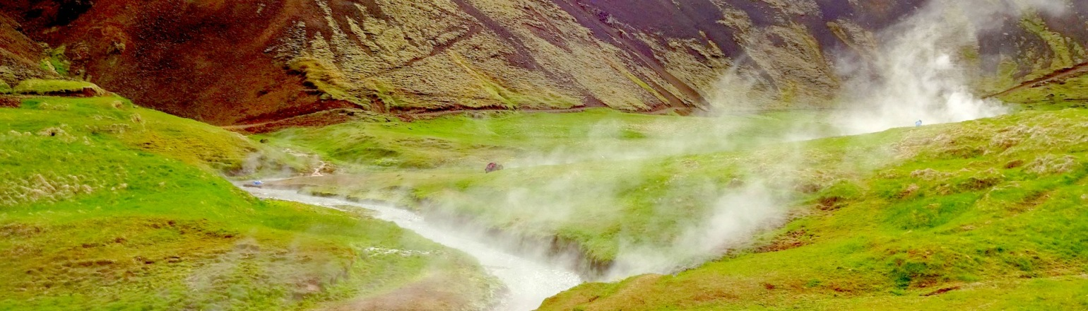 Natural hot springs in Iceland guided tours