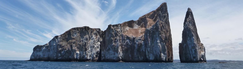 Kicker Rock, top attraction off San Cristobal Island in Ecuador