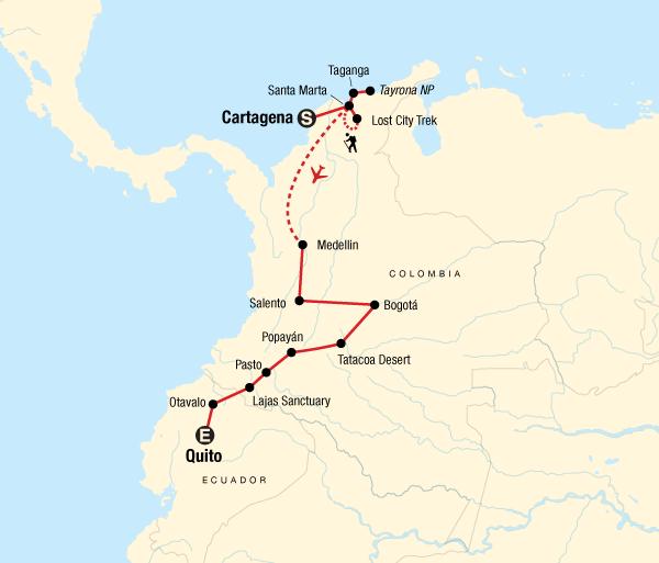 Bath Caribbean Cartagena to Quito on a Shoestring Trip