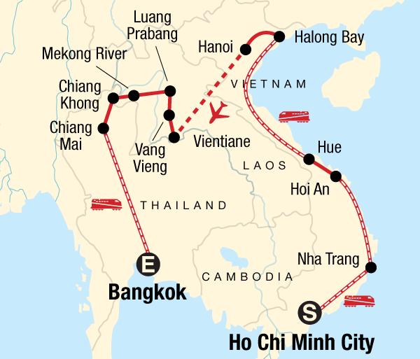 Bangkok Chiang Mai Vietnam, Laos & Thailand on a Shoestring Trip