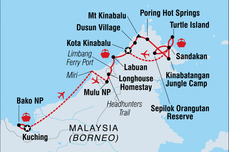 Adventure Wildlife viewing Best of Borneo package