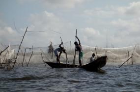 Lake view of Benin, West Africa