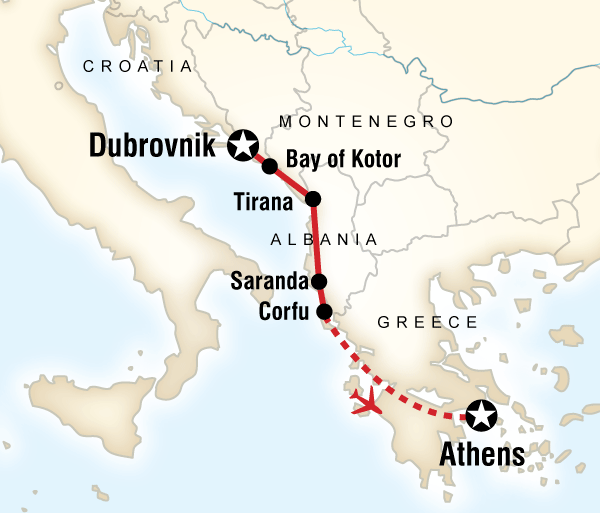 Athens Corfu  Adriatic Adventure–Dubrovnik to Athens Trip