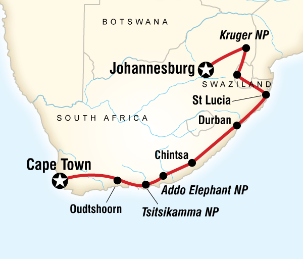 Cape Town Durban South Africa & Swazi Quest Trip
