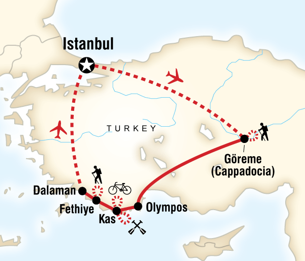 Cappadocia Istanbul Turkey Multisport Trip