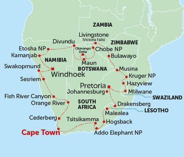 Local Immersion History Southern Africa Circuit package
