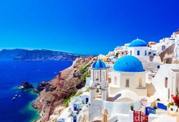 greece church and sea