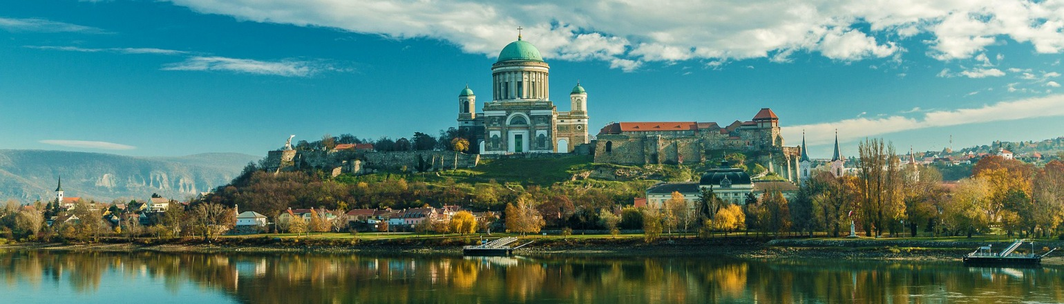 Esztergom Basilica along the Danube River in Hungary