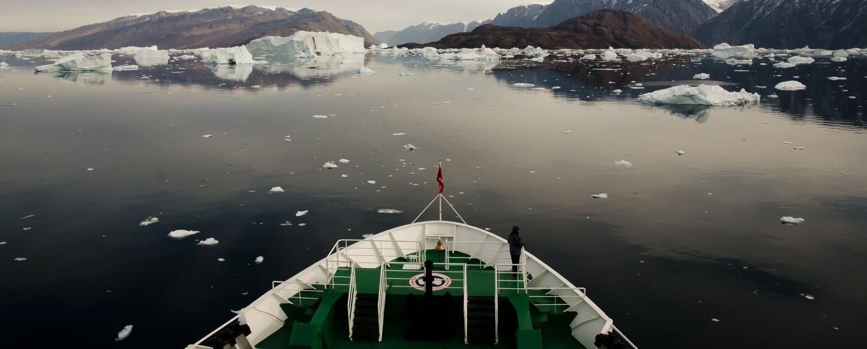 Sailing around Antarctica small ship cruise