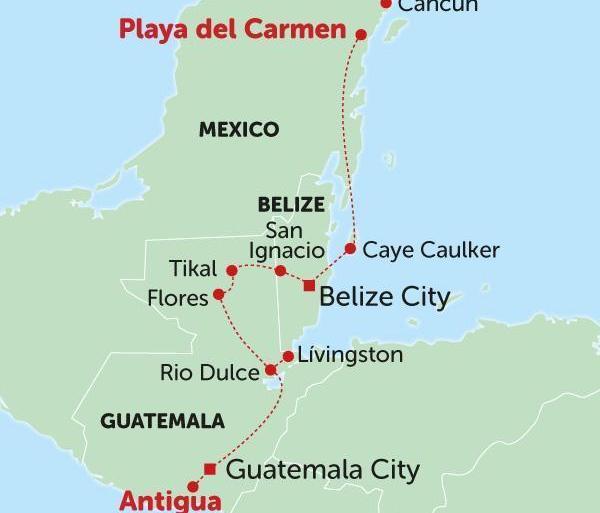 Antigua Cancún Quetzal Highway  Trip