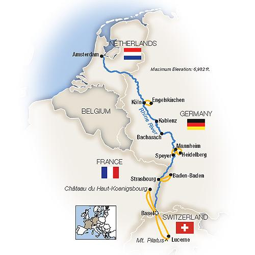 The Romantic Rhine: Basel to Amsterdam - Northbound 2019 tour