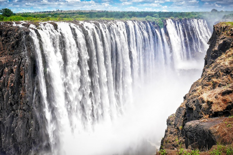 Amazing view of Victoria Falls, Zambia