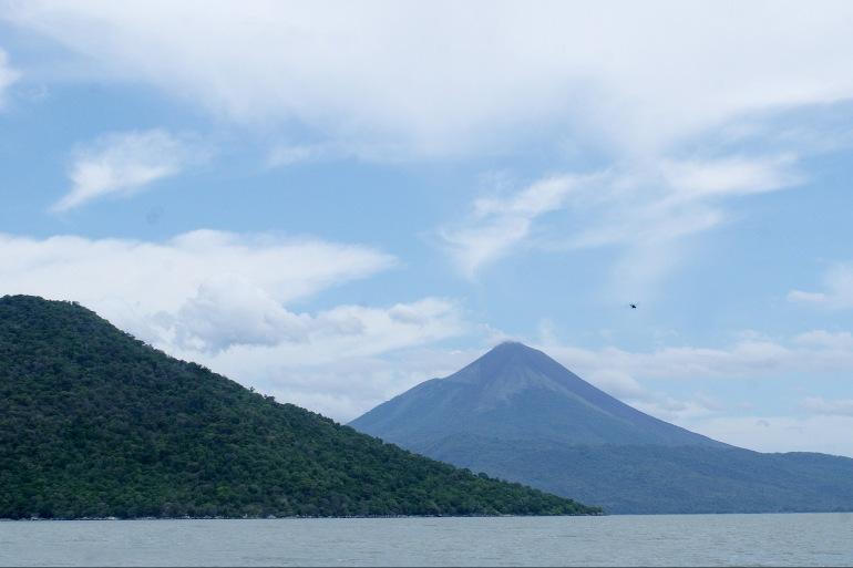 Beautiful lake view of Nicaragua, Central America