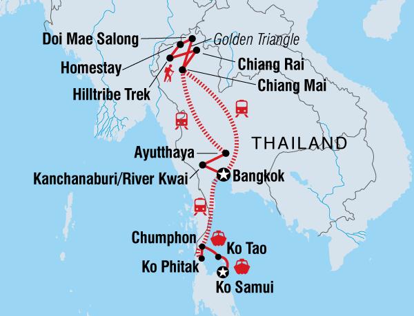 Chiang Mai Chiang Rai Thailand Adventure East Coast (May - Oct) Trip