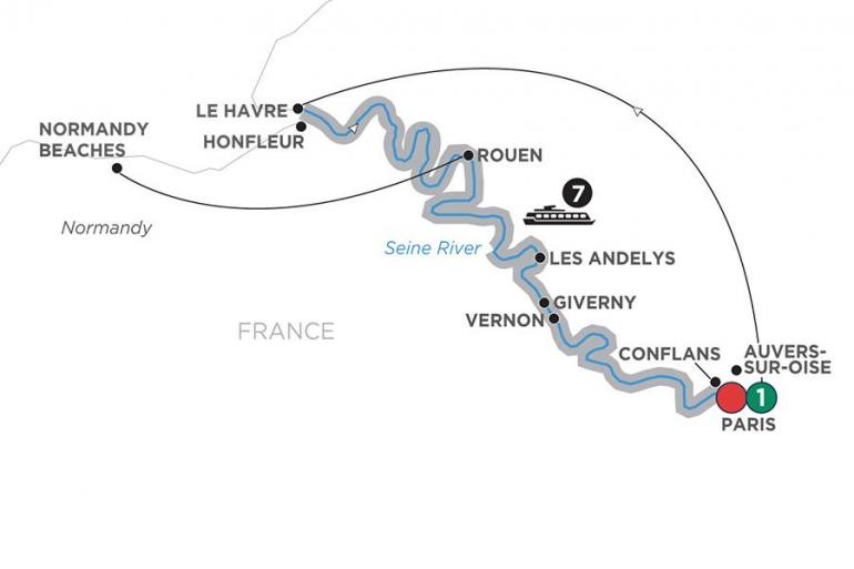 Reflections on the Seine – Southbound tour