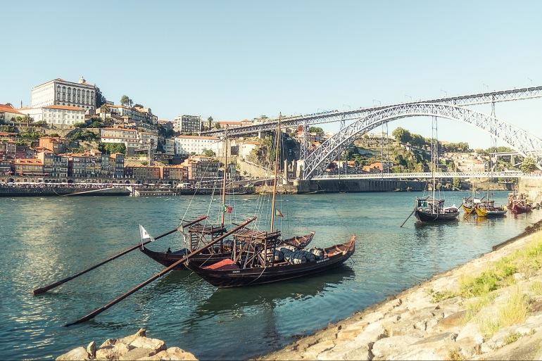 River Douro view of Porto, Europe
