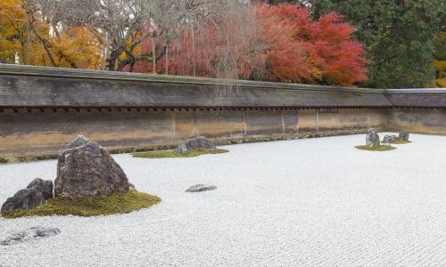 Zen Rock Garden in Japan