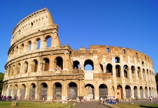 The famous Colosseum in Rome, Italy