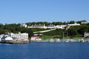 Mackinac Island featuring The Grand Hotel and the Tulip Festival