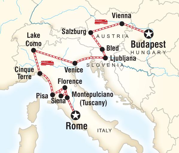 Budapest Cinque Terre Rome to Budapest Explorer Trip