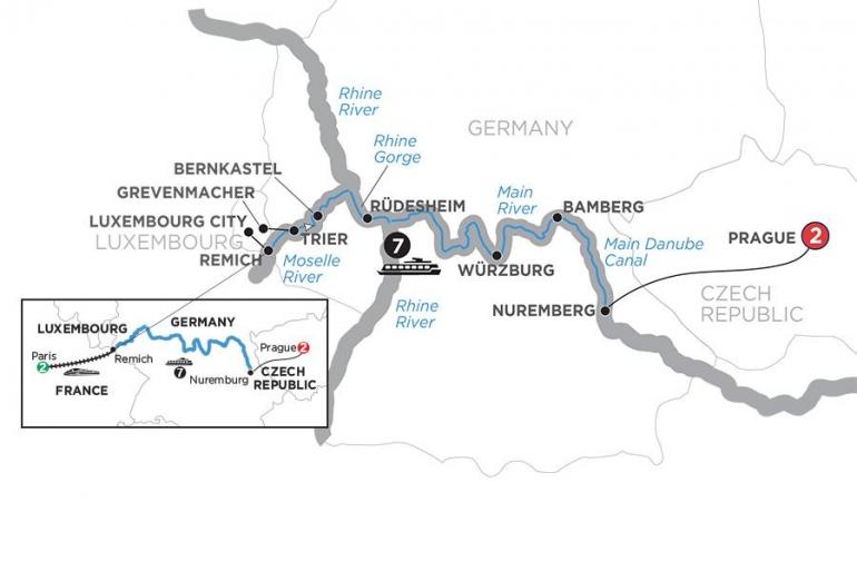 Bamberg Nuremberg Central European Experience with 2 Nights Paris – Eastbound Trip