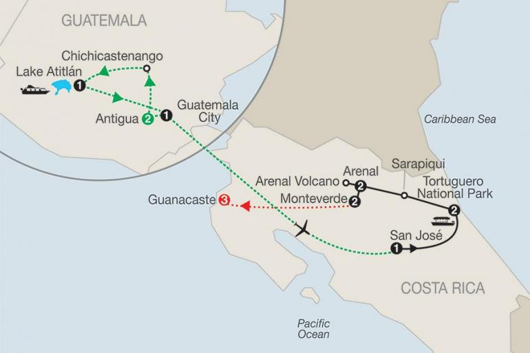 Antigua Arenal Volcano Natural Wonders of Costa Rica with Guatemala & Guanacaste Trip