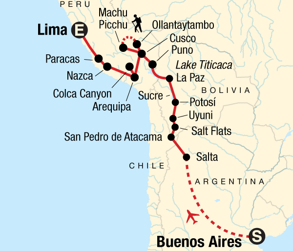 Arequipa Buenos Aires Buenos Aires to Lima Adventure Trip