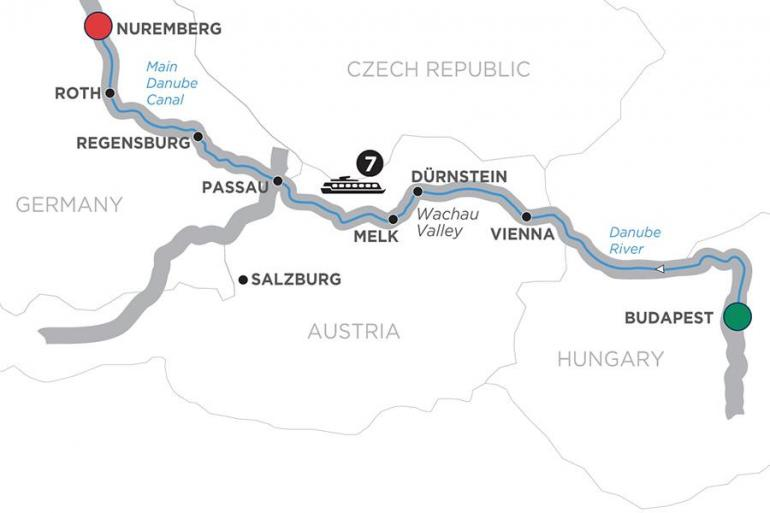 Budapest Nuremberg The Blue Danube Discovery – Cruise Only Trip